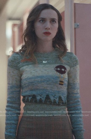 Lexi's hot air balloon sweater on Euphoria