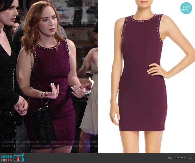 Likely Studded Mini Dress worn by Mariah Copeland (Camryn Grimes) on The Young & the Restless