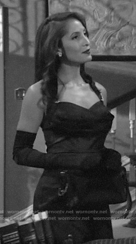 Lily's vintage style halter dress on The Young and the Restless