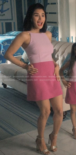 Lina's pink colorblock dress on Jane the Virgin