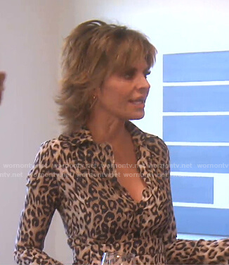 Lisa's leopard print shirtdress on The Real Housewives of Beverly Hills
