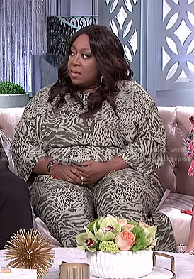 Loni's animal print jumpsuit on The Real