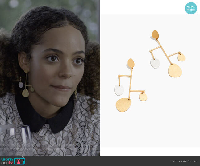 Mobile Statement Earrings by Madewell worn by Tabitha Foster (Quintessa Swindell) on Trinkets