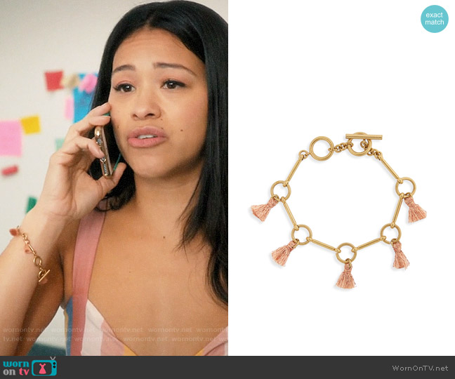 Madewell Tassel Link Bracelet worn by Jane Villanueva (Gina Rodriguez) on Jane the Virgin