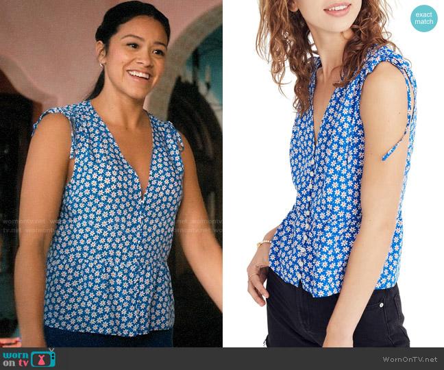 Madewell Belle Daisy Tank worn by Jane Villanueva (Gina Rodriguez) on Jane the Virgin