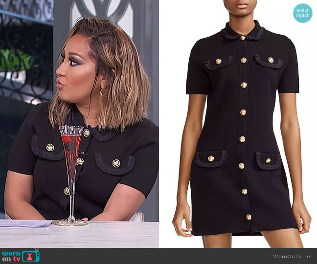 Ravena Dress by Maje worn by Adrienne Houghton  on The Real