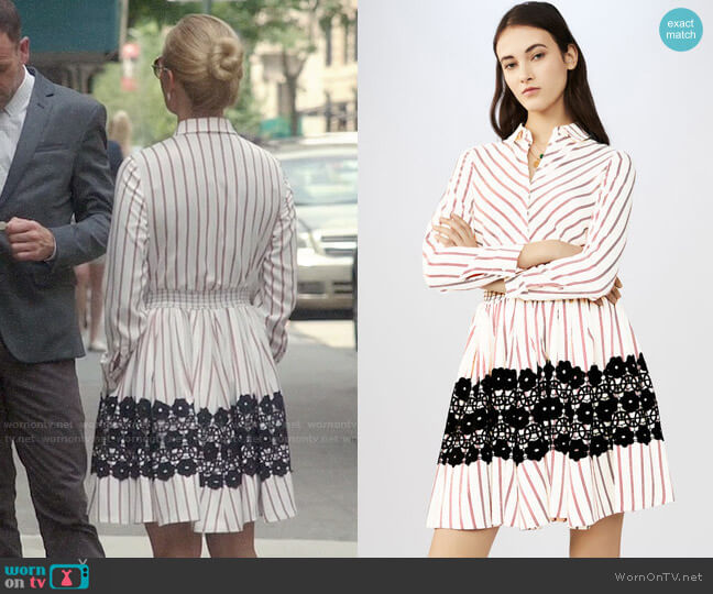 Maje Ronnie Shirtdress worn by Joan Watson (Lucy Liu) on Elementary