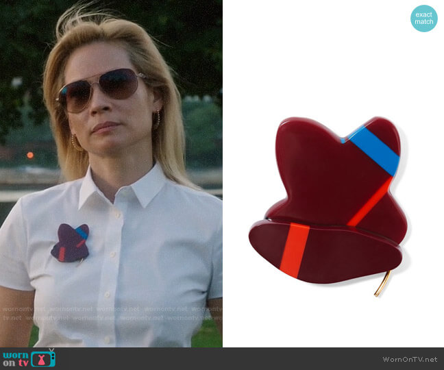 Marni Resin Brooch worn by Joan Watson (Lucy Liu) on Elementary