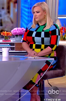Meghan's colorblock sheath dress on The View