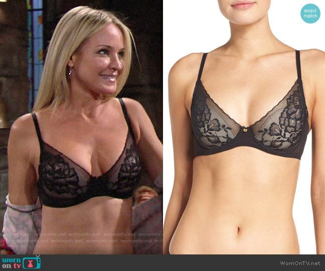 Natori Flora Underwire Bra worn by Sharon Collins (Sharon Case) on The Young & the Restless