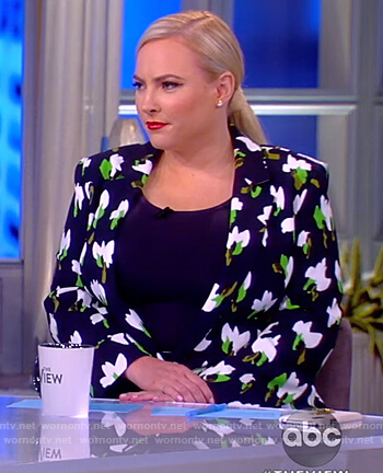 Meghan's floral print blazer and pants on The View