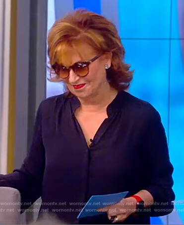 Joy's navy blouse on The View