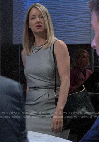 Nina's grey sheath dress on General Hospital