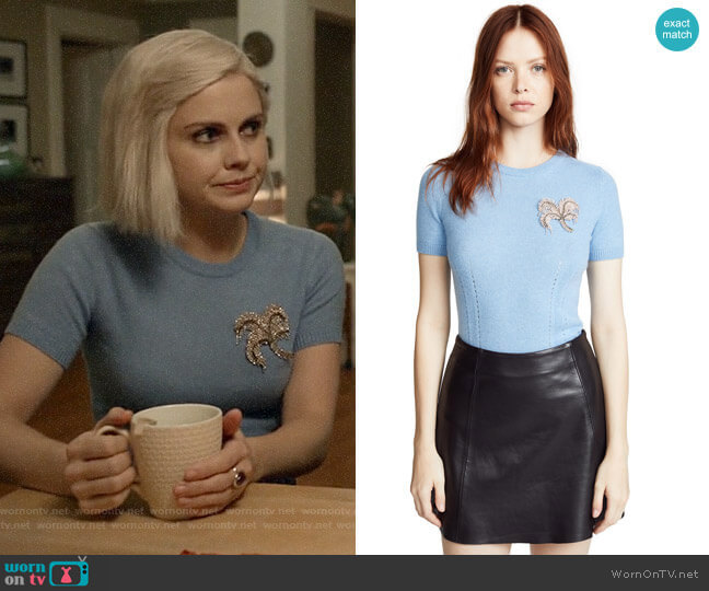No.21 Embellished Short Sleeve Sweater worn by Liv Moore (Rose McIver) on iZombie