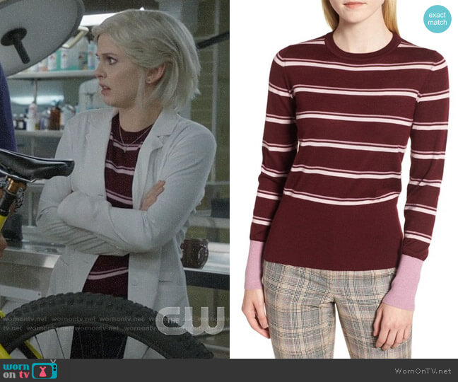 Nordstrom Signature  Stripe Cashmere Sweater worn by Liv Moore (Rose McIver) on iZombie