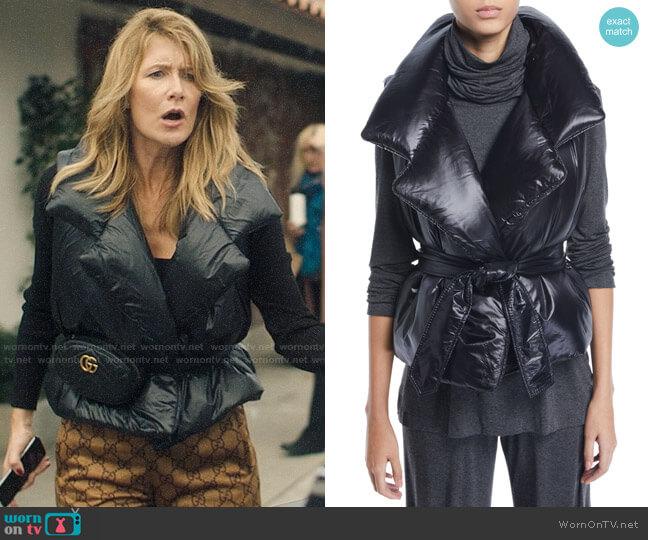 Norma Kamali Sleeping Bag Puffer Vest worn by Renata Klein (Laura Dern) on Big Little Lies
