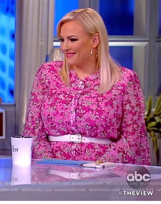 Meghan's pink floral midi dress on The View