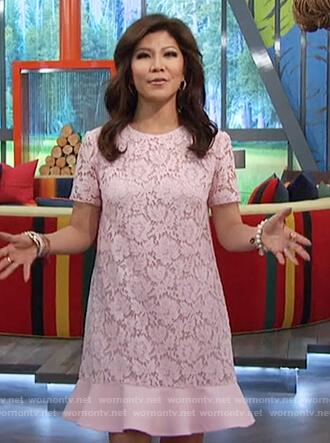Julie's pink lace dress on Big Brother