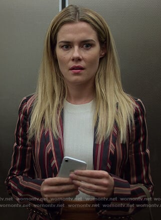 Trish's pink striped blazer on Jessica Jones