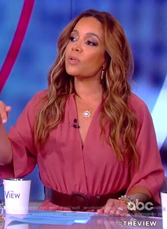Sunny's pink belted jumpsuit on The View