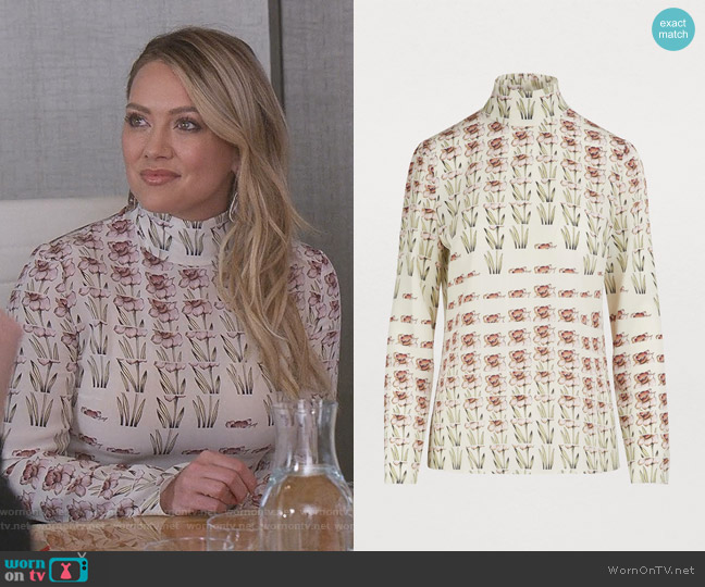 Printed Blouse by Prada worn by Kelsey Peters (Hilary Duff) on Younger