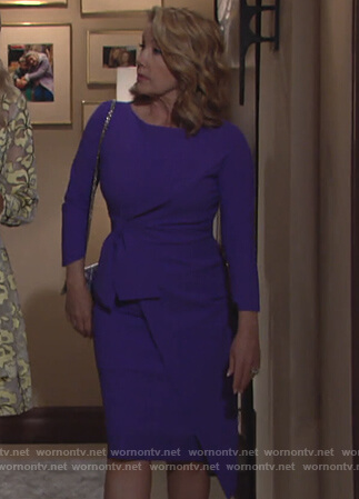 Nikki's purple asymmetric dress on The Young and the Restless