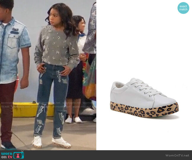 Qupid Leopard Lace Up Sneakers worn by Nia Baxter (Navia Robinson) on Ravens Home