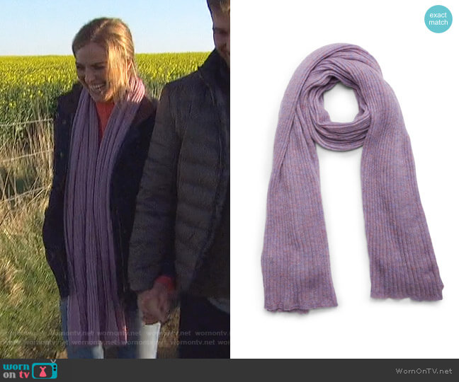 Donna Rib Knit Scarf by Rag & Bone worn by Hannah Brown  on The Bachelorette