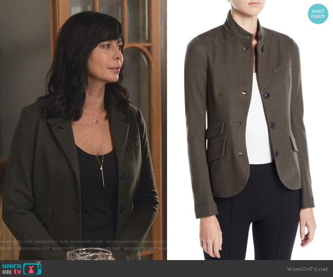Slade Blazer by Rag and Bone worn by Cassandra Nightingale (Catherine Bell) on Good Witch