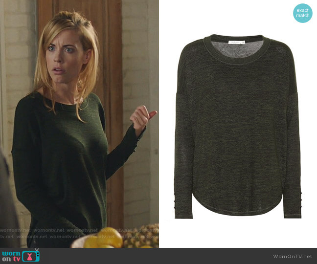 Stretch Knit Sweater by Rag & Bone worn by Kelly Anne Van Awken (Molly Burnett) on Queen of the South