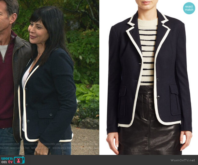 Uni Blazer by Rag & Bone worn by Cassandra Nightingale (Catherine Bell) on Good Witch