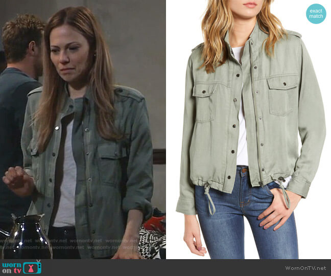 Collins Military Jacket by Rails worn by Kim Nero (Tamara Braun) on General Hospital