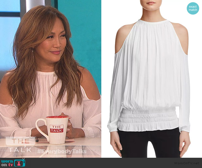 Lauren Cold Shoulder Blouse by Ramy Brook worn by Carrie Inaba  on The Talk