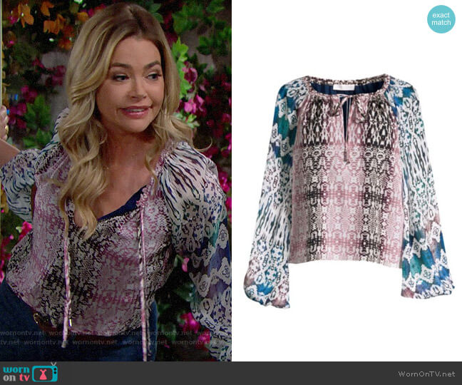 Ramy Brook Kayden Blouse worn by Shauna Fulton (Denise Richards) on The Bold & the Beautiful