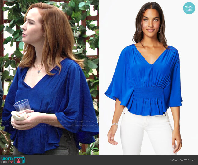 Ramy Brook Lizzy Top worn by Mariah Copeland (Camryn Grimes) on The Young & the Restless