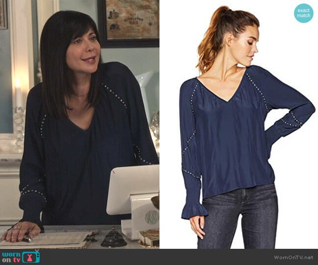 Willa Top by Ramy Brook worn by Cassandra Nightingale (Catherine Bell) on Good Witch