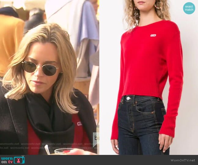 50's Crewneck Jumper by Re/Done worn by Teddi Mellencamp Arroyave  on The Real Housewives of Beverly Hills
