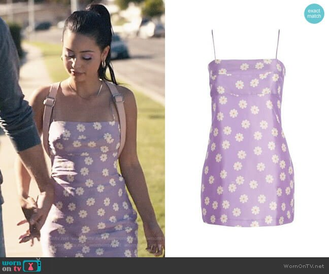 Realisation Christy Dress in What If worn by Maddy Perez (Alexa Demie) on Euphoria