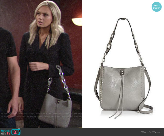 Rebecca Minkoff Darren Small Leather Feed Bag worn by Abby Newman (Melissa Ordway) on The Young & the Restless