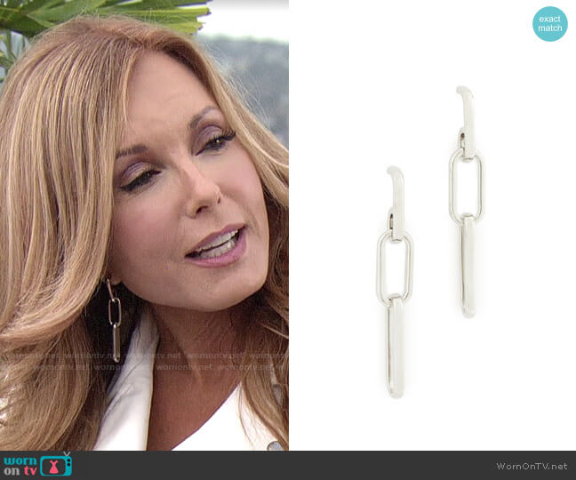 Rebecca Minkoff Signature Chain Link Earrings worn by Lauren Fenmore (Tracey Bregman) on The Young & the Restless