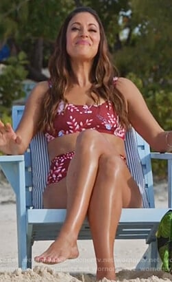 Colleen's red floral bikini on Life in Pieces
