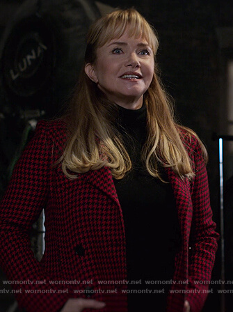 Dorothy's denim jacket with leopard collar on Jessica Jones