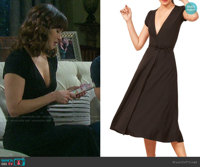 Reformation Becca Midi Dress worn by Sarah Horton (Linsey Godfrey) on Days of our Lives
