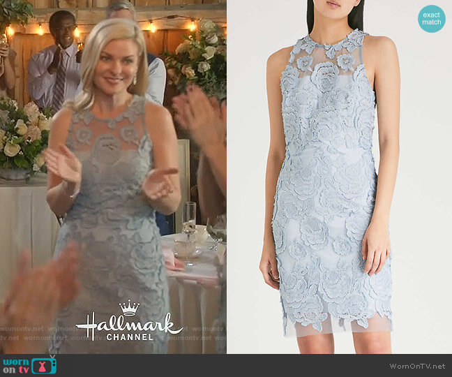 Meghan-floral Lace Dress by Reiss worn by Stephanie Borden (Kylee Evans) on Good Witch