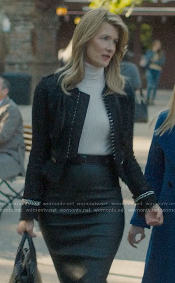 Renata's tweed chain trim jacket on Big Little Lies