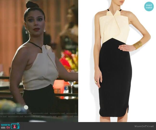 Darlington Dress by Roland Mouret worn by Gigi Mendoza (Roselyn Sánchez) on Grand Hotel