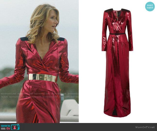 Roland Mouret Zodiac Gown worn by Renata Klein (Laura Dern) on Big Little Lies