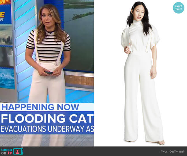 Adelie Overalls by Ronny Kobo worn by Ginger Zee  on Good Morning America