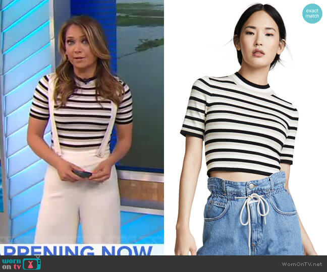 Ellenwe Top by Ronny Kobo worn by Ginger Zee  on Good Morning America