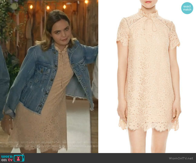 Antilope Dress by Sandro worn by Grace Russell (Bailee Madison) on Good Witch
